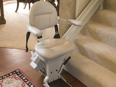 stair lift on stair base