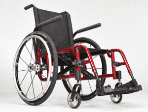 Catalyst red manual wheelchair