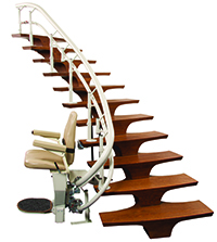 stair lift chair on stair base
