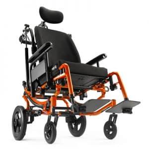 Solara orange power wheelchair