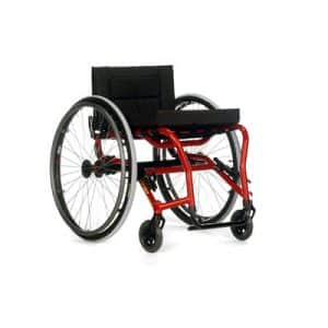 red manual wheelchair