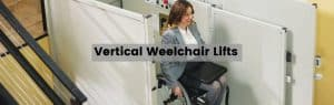 vertical wheelchair lift header