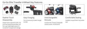 go-go elite traveller scooter features
