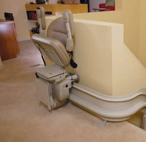 indoor curved stair lift folded top stairs
