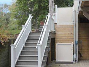 outdoor vertical residential platform lift