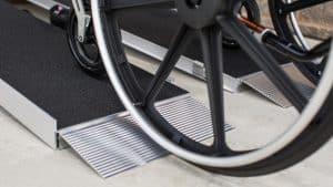 portable ramp for wheelchair closeup