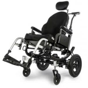 Quickie IRIS Beauty wheelchair facing diagonally left