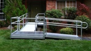 Semi permanent ramp going up to a house